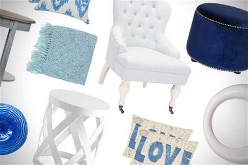 Color Combo: Blue and White